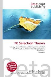 r/K Selection Theory - Lambert M. Surhone