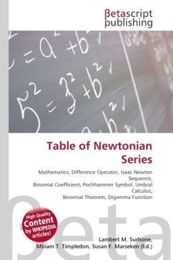 Table of Newtonian Series