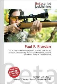 Paul F. Riordan - Lambert M. Surhone, Miriam T. Timpledon, Susan F. Marseken