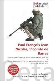Paul Fran ois Jean Nicolas, Vicomte de Barras - Lambert M. Surhone, Miriam T. Timpledon, Susan F. Marseken