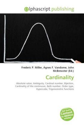 Cardinality - Miller, Frederic P. (Hrsg.) / Vandome, Agnes F. (Hrsg.) / McBrewster, John (Hrsg.)