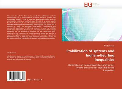 Stabilization of systems and Ingham-Beurling inequalities - Alia Barhoumi