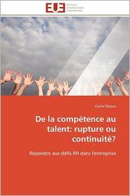 De La Comp Tence Au Talent - Cecile Dejoux