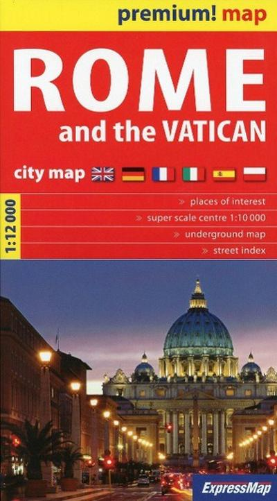 Rome and the Vatican City Map 1 : 12 000