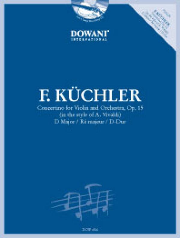 Concertino D-Dur op.15 (+CD) - Küchler, Ferdinand