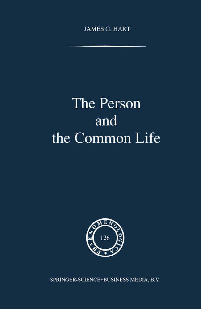The Person and the Common Life als Buch von J. G. Hart - Springer
