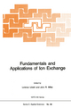 Fundamentals and Applications of Ion Exchange - L. Liberti; J.R. Millar