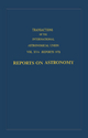 Transactions of the International Astronomical Union:Reports on Astronomy - C. De Jager