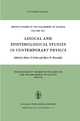 Logical and Epistemological Studies in Contemporary Physics - Robert S. Cohen; Marx W. Wartofsky