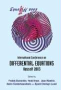Equadiff 2003 - Proceedings of the International Conference on Differential Equations