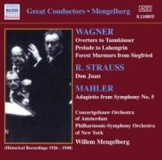 Wagner Strauss Mahler - Mengelberg, Willem/Concergebouw