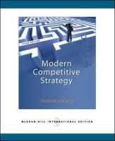 Modern Competitive Strategy - Walker, Gordon