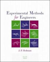 Experimental Methods for Engineers - Holman, J. P.; Holman, Jack P.; Holman Jack