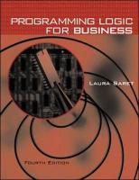 Programming Logic for Business - Saret, Laura; Saret Laura
