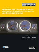 Diagnosis and Troubleshooting of Automotive Electrical, Electronic, and Computer Systems - Halderman, James D.