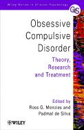 Obsessive-Compulsive Disorder: Theory, Research and Treatment - de Silva, Padmal