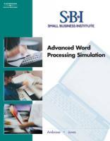 Sbi: Advanced Word Processing Simulation - Ambrose, Ann; Jones, Dorothy L.