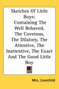 Sketches of Little Boys: Containing the Well Behaved, the Covetous, the Dilatory, the Attentive, the Inattentive, the Exact and the Good Little - Lovechild, Mrs