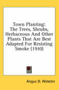 Town Planting: The Trees, Shrubs, Herbaceous and Other Plants That Are Best Adapted for Resisting Smoke (1910) - Webster, Angus D.