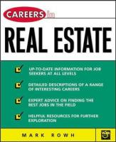 Careers in Real Estate - Rowh, Mark
