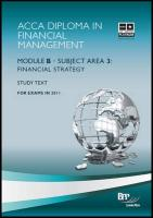 Dipfm - Financial Strategy: Study Text - BPP Learning Media