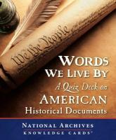 Words We Live by: A Quiz Deck on American Historical Documents - National Archives