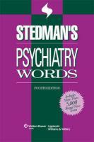 Stedman's Psychiatry Words