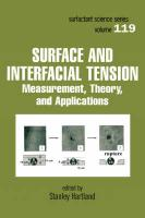 Surface and Interfacial Tension: Measurement, Theory, and Applications - Hartland, Hartland