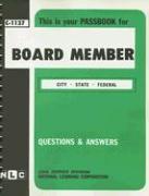 Board Member: City, State, Federal