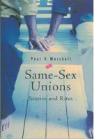 Same-Sex Unions: Stories and Rites - Marshall, Paul V.