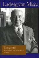 Socialism. the Economic and Sociological Analysis