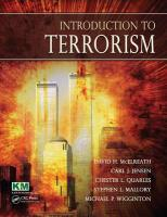 Introduction to Terrorism - McElreath, David H.; Jensen, Carl; Quarles, Chester L.