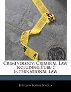 Criminology: Criminal Law Including Public International Law - Scaglia, Beatriz