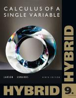 Calculus of a Single Variable, Hybrid [With Access Code] - Larson, Ron; Edwards, Bruce H.