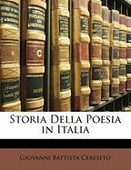 Storia Della Poesia in Italia - Cereseto, Giovanni Battista