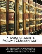 Sitzungsberichte, Volume 72, Part 1