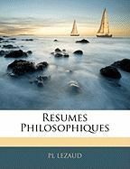 Resumes Philosophiques - Lezaud, Pl