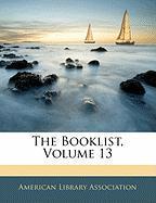 The Booklist, Volume 13