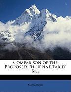 Comparison of the Proposed Philippine Tariff Bill - Anonymous