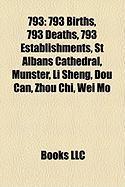 793: 793 Births, 793 Deaths, 793 Establishments, St Albans Cathedral, Mnster, Li Sheng, Dou Can, Zhou Chi, Wei Mo