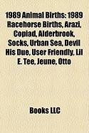 1989 Animal Births: 1989 Racehorse Births, Arazi, Copiad, Alderbrook, Socks, Urban Sea, Devil His Due, User Friendly, Lil E. Tee, Jeune, O