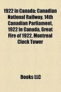 1922 in Canada: Canadian National Railway