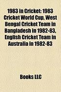 1983 in Cricket: 1983 Cricket World Cup
