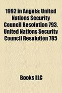 1992 in Angola: United Nations Security Council Resolution 793