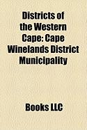 Districts of the Western Cape: Cape Winelands District Municipality