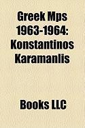 Greek Mps 1963-1964: Konstantinos Karamanlis