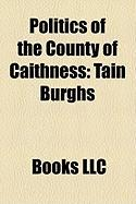 Politics of the County of Caithness: Tain Burghs