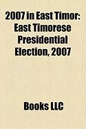 2007 in East Timor: East Timorese Presidential Election, 2007