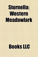 Sturnella: Western Meadowlark