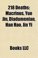 218 Deaths: Macrinus